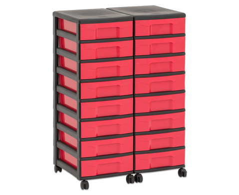 Flexeo Container-System 2 Reihen 16 kleine Boxen HxBxT 66x60x38 cm-30