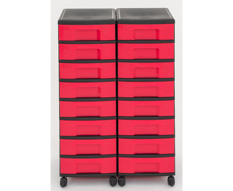 Flexeo Container-System 2 Reihen 16 kleine Boxen HxBxT 66x60x38 cm-31