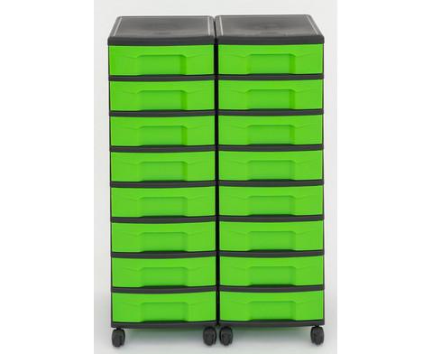 Flexeo Container-System 2 Reihen 16 kleine Boxen HxBxT 66x60x38 cm-27