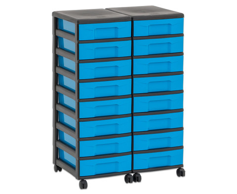 Flexeo Container-System 2 Reihen 16 kleine Boxen HxBxT 66x60x38 cm-34