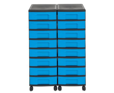 Flexeo Container-System 2 Reihen 16 kleine Boxen HxBxT 66x60x38 cm-35