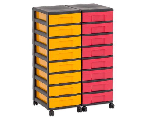 Flexeo Container-System 2 Reihen 16 kleine Boxen HxBxT 66x60x38 cm-26