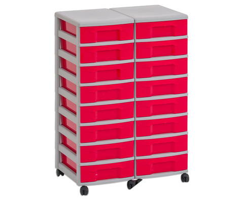 Flexeo Container-System 2 Reihen 16 kleine Boxen HxBxT 66x60x38 cm-24