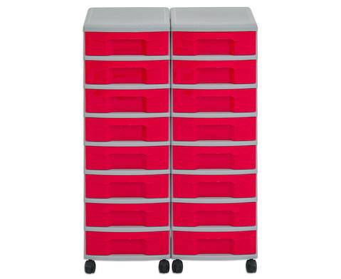 Flexeo Container-System 2 Reihen 16 kleine Boxen HxBxT 66x60x38 cm-25