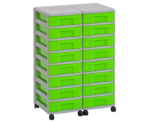 Flexeo Container-System 2 Reihen 16 kleine Boxen HxBxT 66x60x38 cm-28