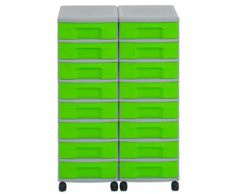 Flexeo Container-System 2 Reihen 16 kleine Boxen HxBxT 66x60x38 cm-33