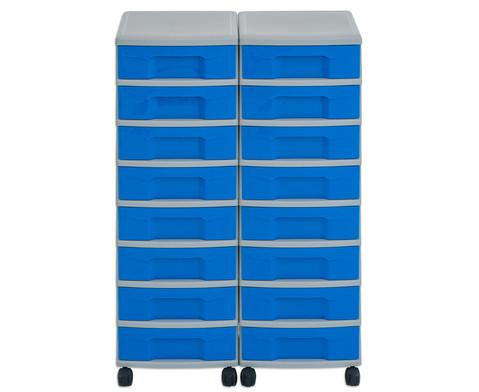 Flexeo Container-System 2 Reihen 16 kleine Boxen HxBxT 66x60x38 cm-21