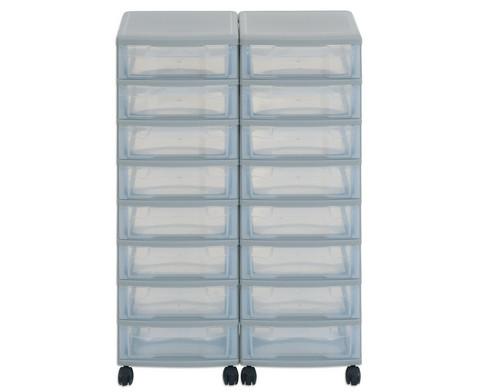 Flexeo Container-System 2 Reihen 16 kleine Boxen HxBxT 66x60x38 cm-13