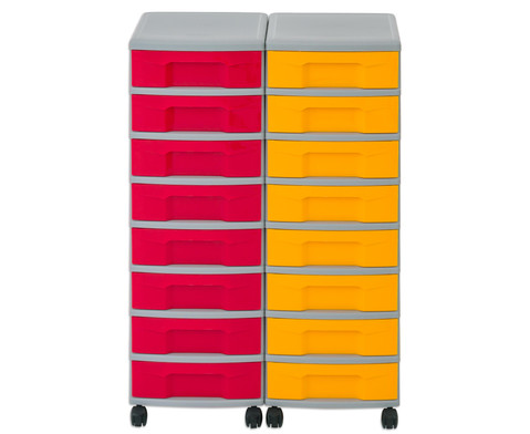 Flexeo Container-System 2 Reihen 16 kleine Boxen HxBxT 66x60x38 cm-17