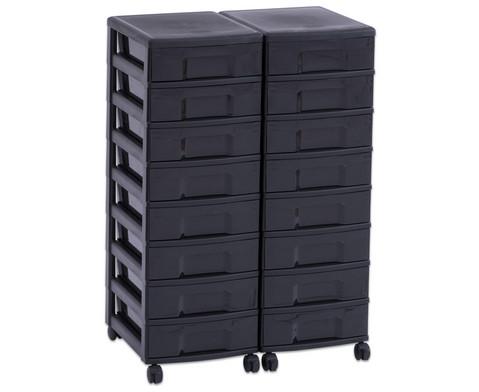 Flexeo Container-System 2 Reihen 16 kleine Boxen HxBxT 66x60x38 cm-9