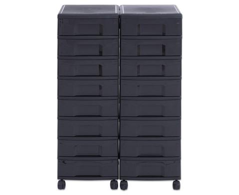 Flexeo Container-System 2 Reihen 16 kleine Boxen HxBxT 66x60x38 cm-10