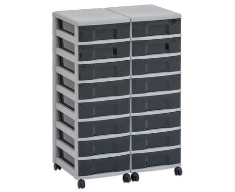 Flexeo Container-System 2 Reihen 16 kleine Boxen HxBxT 66x60x38 cm-22