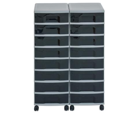 Flexeo Container-System 2 Reihen 16 kleine Boxen HxBxT 66x60x38 cm-23