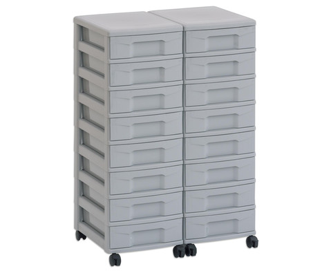 Flexeo Container-System 2 Reihen 16 kleine Boxen HxBxT 66x60x38 cm-32