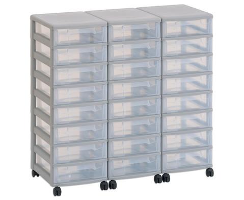 Flexeo Container-System 3 Reihen 24 kleine Boxen HxBxT 66x90x38 cm-1