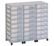 Flexeo Container-System 3 Reihen, 24 kleine Boxen HxBxT: 66x90x38 cm