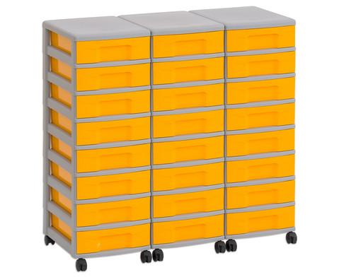 Flexeo Container-System 3 Reihen 24 kleine Boxen HxBxT 66x90x38 cm-2