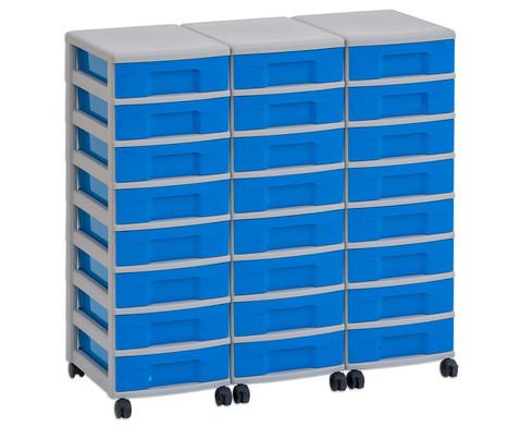 Flexeo Container-System 3 Reihen 24 kleine Boxen HxBxT 66x90x38 cm-3