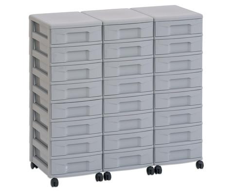 Flexeo Container-System 3 Reihen 24 kleine Boxen HxBxT 66x90x38 cm-7