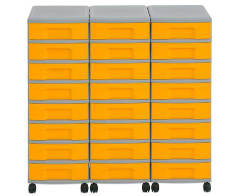 Flexeo Container-System 3 Reihen 24 kleine Boxen HxBxT 66x90x38 cm-10
