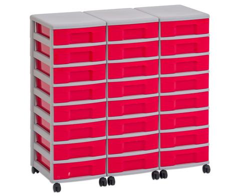 Flexeo Container-System 3 Reihen 24 kleine Boxen HxBxT 66x90x38 cm-21