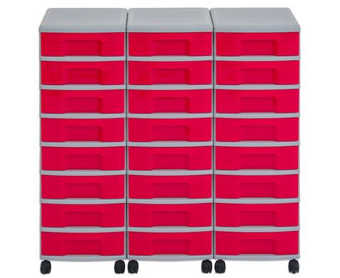Flexeo Container-System 3 Reihen 24 kleine Boxen HxBxT 66x90x38 cm-22