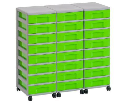 Flexeo Container-System 3 Reihen 24 kleine Boxen HxBxT 66x90x38 cm-17