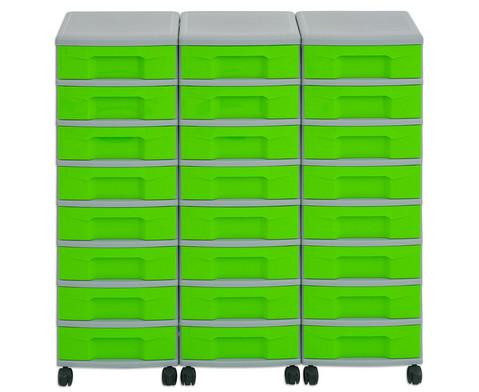 Flexeo Container-System 3 Reihen 24 kleine Boxen HxBxT 66x90x38 cm-18