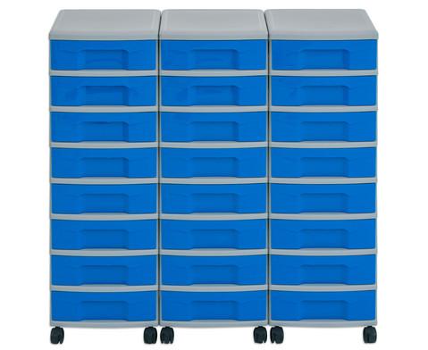 Flexeo Container-System 3 Reihen 24 kleine Boxen HxBxT 66x90x38 cm-14