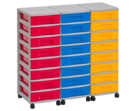 Flexeo Container-System 3 Reihen 24 kleine Boxen HxBxT 66x90x38 cm-11