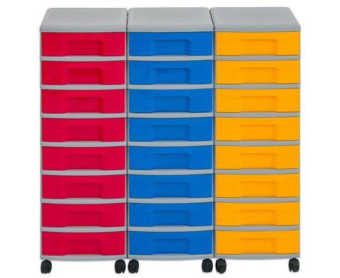 Flexeo Container-System 3 Reihen 24 kleine Boxen HxBxT 66x90x38 cm-12