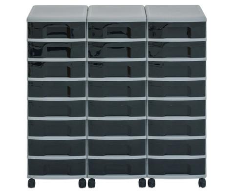 Flexeo Container-System 3 Reihen 24 kleine Boxen HxBxT 66x90x38 cm-20