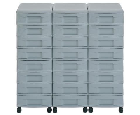 Flexeo Container-System 3 Reihen 24 kleine Boxen HxBxT 66x90x38 cm-24