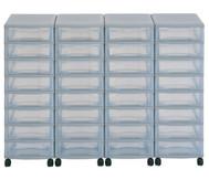 Flexeo Container-System 4 Reihen, 32 kleine Boxen HxBxT: 66x120x38 cm