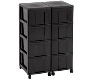 Flexeo Container-System 2 Reihen, 8 große Boxen HxBxT: 66x60x38 cm