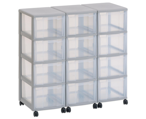 Flexeo Container-System 3 Reihen 12 Boxen HxBxT 66x90x38 cm-1