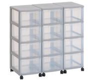 Flexeo Container-System 3 Reihen, 12 Boxen HxBxT: 66x90x38 cm
