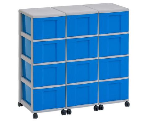 Flexeo Container-System 3 Reihen 12 Boxen HxBxT 66x90x38 cm-4
