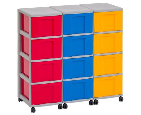 Flexeo Container-System 3 Reihen 12 Boxen HxBxT 66x90x38 cm-8