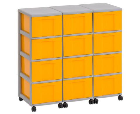 Flexeo Container-System 3 Reihen 12 Boxen HxBxT 66x90x38 cm-25