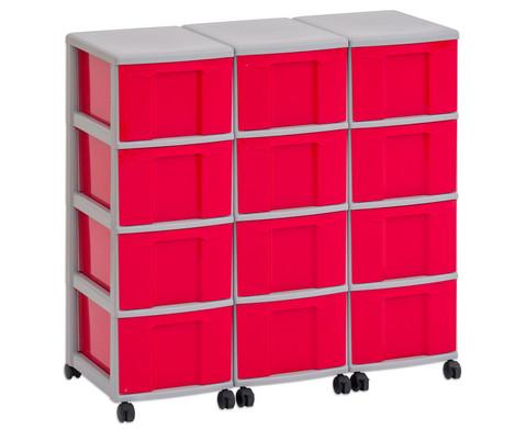 Flexeo Container-System 3 Reihen 12 Boxen HxBxT 66x90x38 cm-11