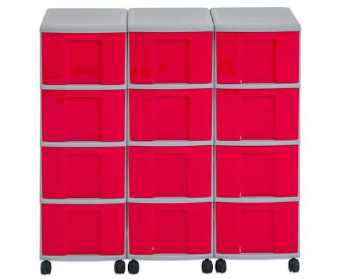Flexeo Container-System 3 Reihen 12 Boxen HxBxT 66x90x38 cm-12