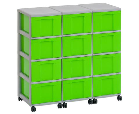 Flexeo Container-System 3 Reihen 12 Boxen HxBxT 66x90x38 cm-17