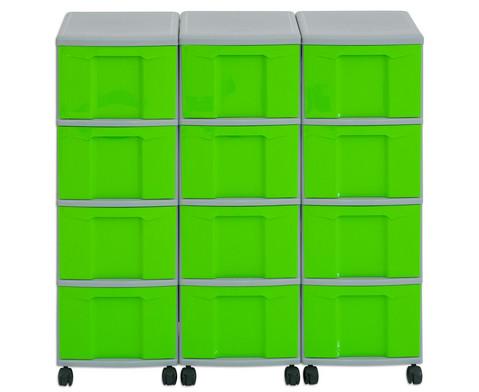 Flexeo Container-System 3 Reihen 12 Boxen HxBxT 66x90x38 cm-20