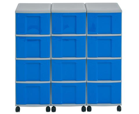 Flexeo Container-System 3 Reihen 12 Boxen HxBxT 66x90x38 cm-18