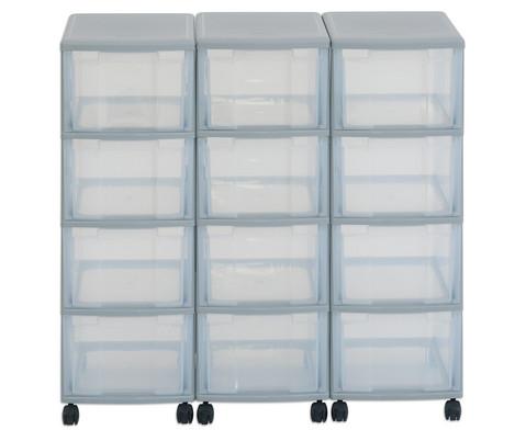 Flexeo Container-System 3 Reihen 12 Boxen HxBxT 66x90x38 cm-14