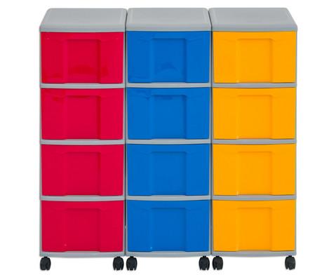 Flexeo Container-System 3 Reihen 12 Boxen HxBxT 66x90x38 cm-26