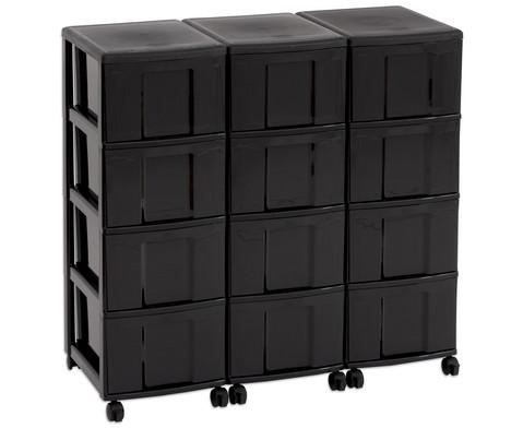 Flexeo Container-System 3 Reihen 12 Boxen HxBxT 66x90x38 cm-19