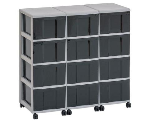 Flexeo Container-System 3 Reihen 12 Boxen HxBxT 66x90x38 cm-15