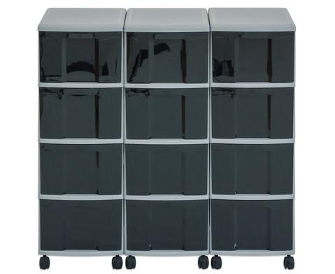 Flexeo Container-System 3 Reihen 12 Boxen HxBxT 66x90x38 cm-24